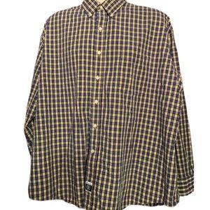 IZOD HERITAGE TARTAN Button Down Shirt XXL